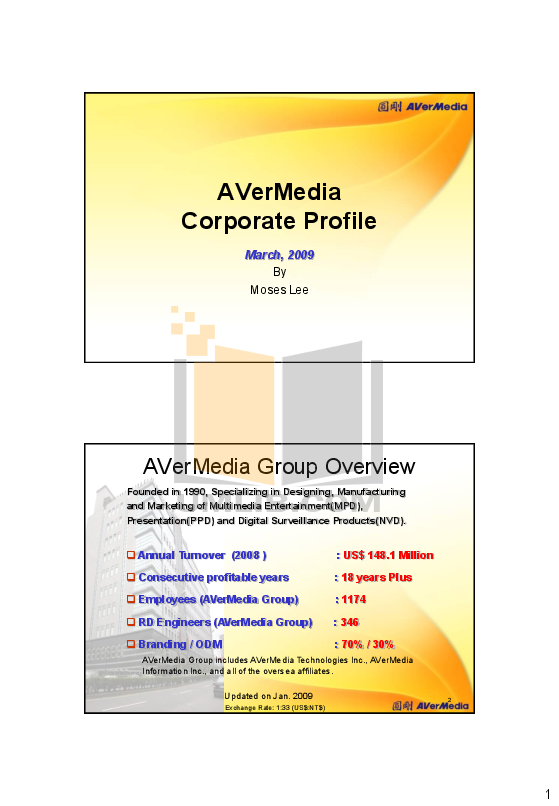 pdf for Avermedia Other AverVision CP130 Projector-Accessory manual