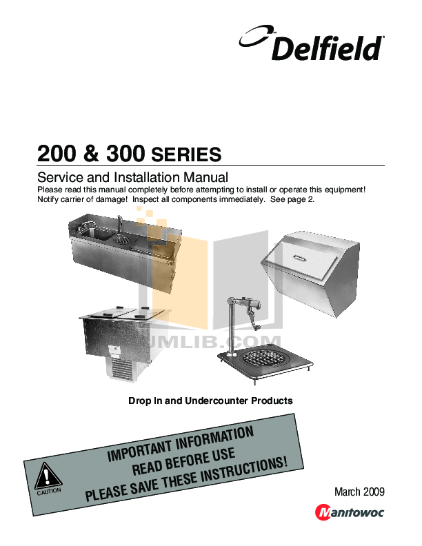 pdf for Delfield Other 203 Ice Chest manual