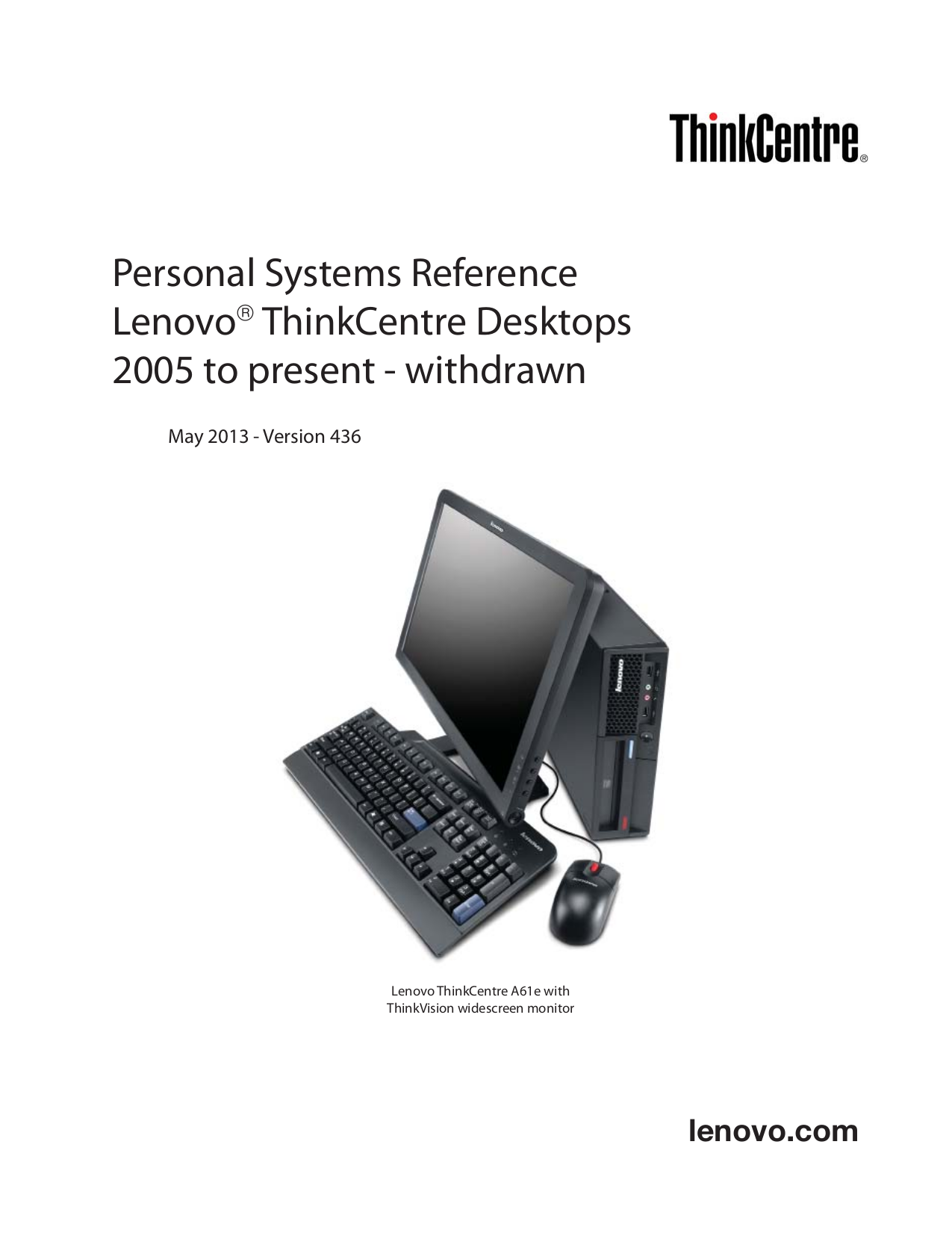 pdf for Lenovo Desktop ThinkCentre M57e 6178 manual