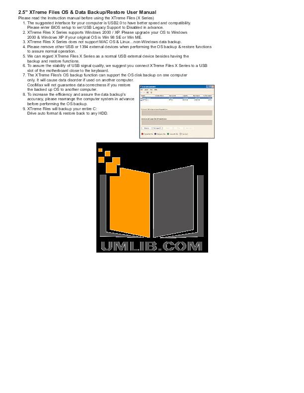 pdf for Coolmax Other X3-B-U2 Enclosures manual