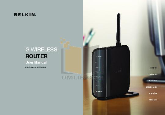 pdf for Belkin Router F5D7001 manual