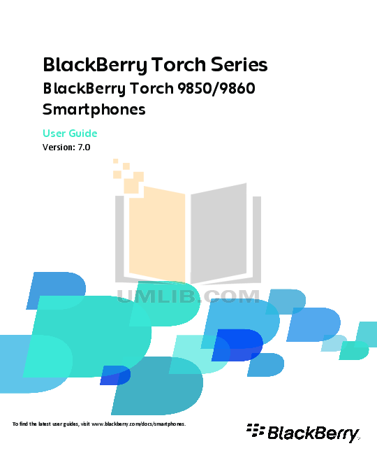 pdf for Blackberry Cell Phone Torch 9860 manual