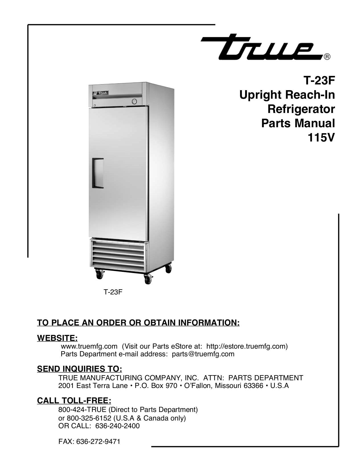 Download Free Pdf For True T 23dt Refrigerator Manual 23f Manufacturing Wiring Diagrams