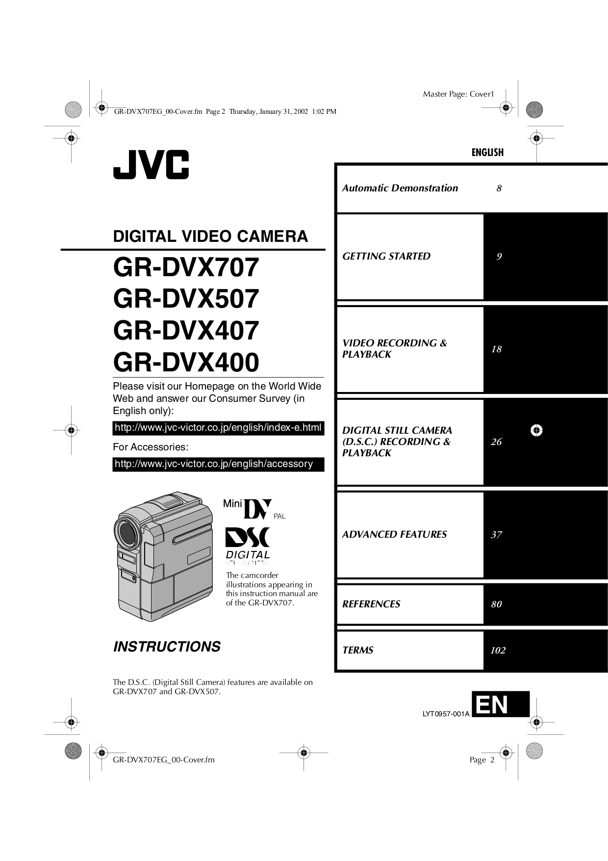 Jvc pro manuals pdf for jvc camcorders gr dvx400eg x manual fandeluxe Choice Image