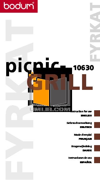 pdf for Bodum Grill Fyrkat 10630 manual