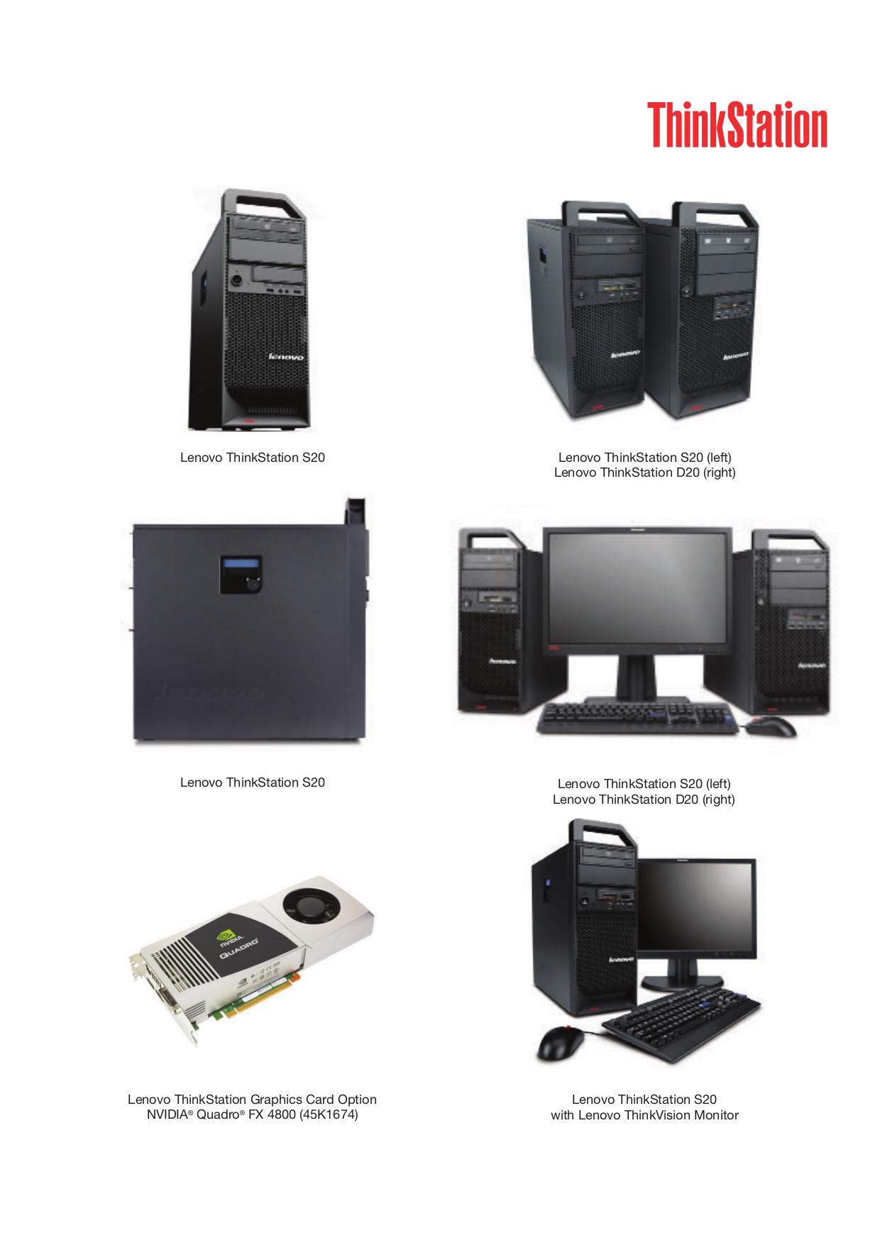 pdf for Lenovo Desktop ThinkStation S20 4105 manual
