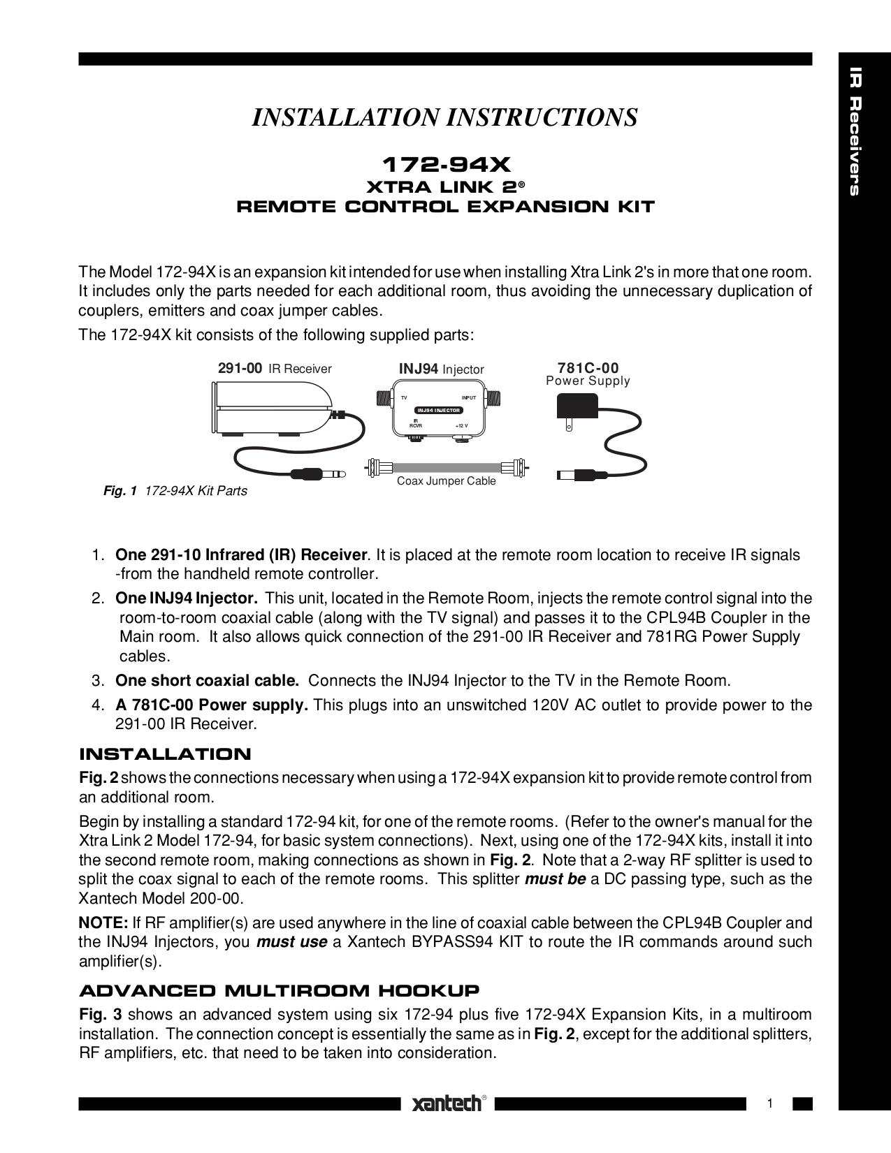 68_17294X.pdf 0 download free pdf for xantech cpl94b couplers other manual xantech ir kit wiring diagram at soozxer.org