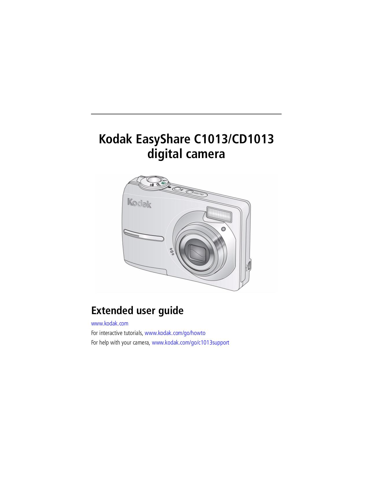 pdf for Kodak Digital Camera EasyShare C1013 manual