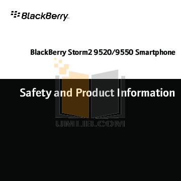 pdf for Blackberry Cell Phone Storm2 9520 manual