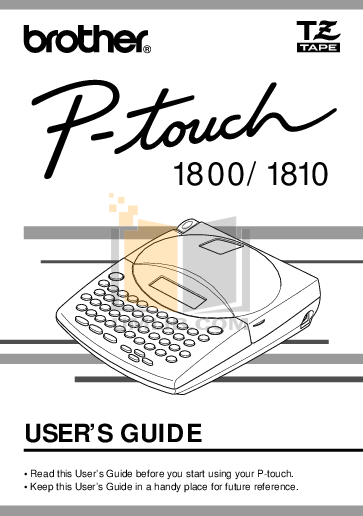 pdf for Brother Printer PT-330 manual