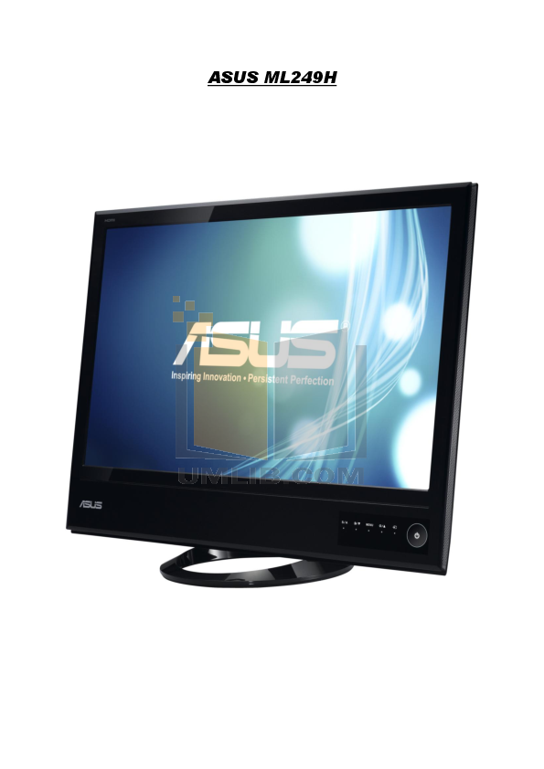 pdf for Asus Monitor ML249H manual