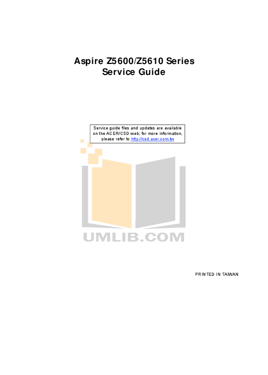 pdf for Acer Desktop Aspire 2100 manual