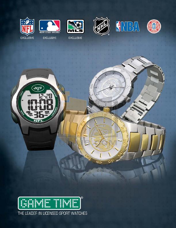 pdf for Gametime Watch NFL-SW-CIN manual