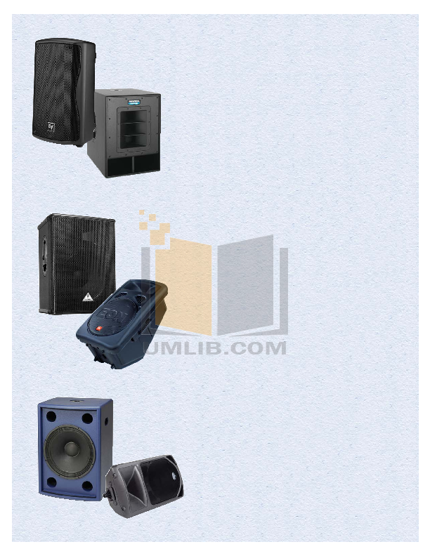 pdf for Behringer Speaker B300 manual