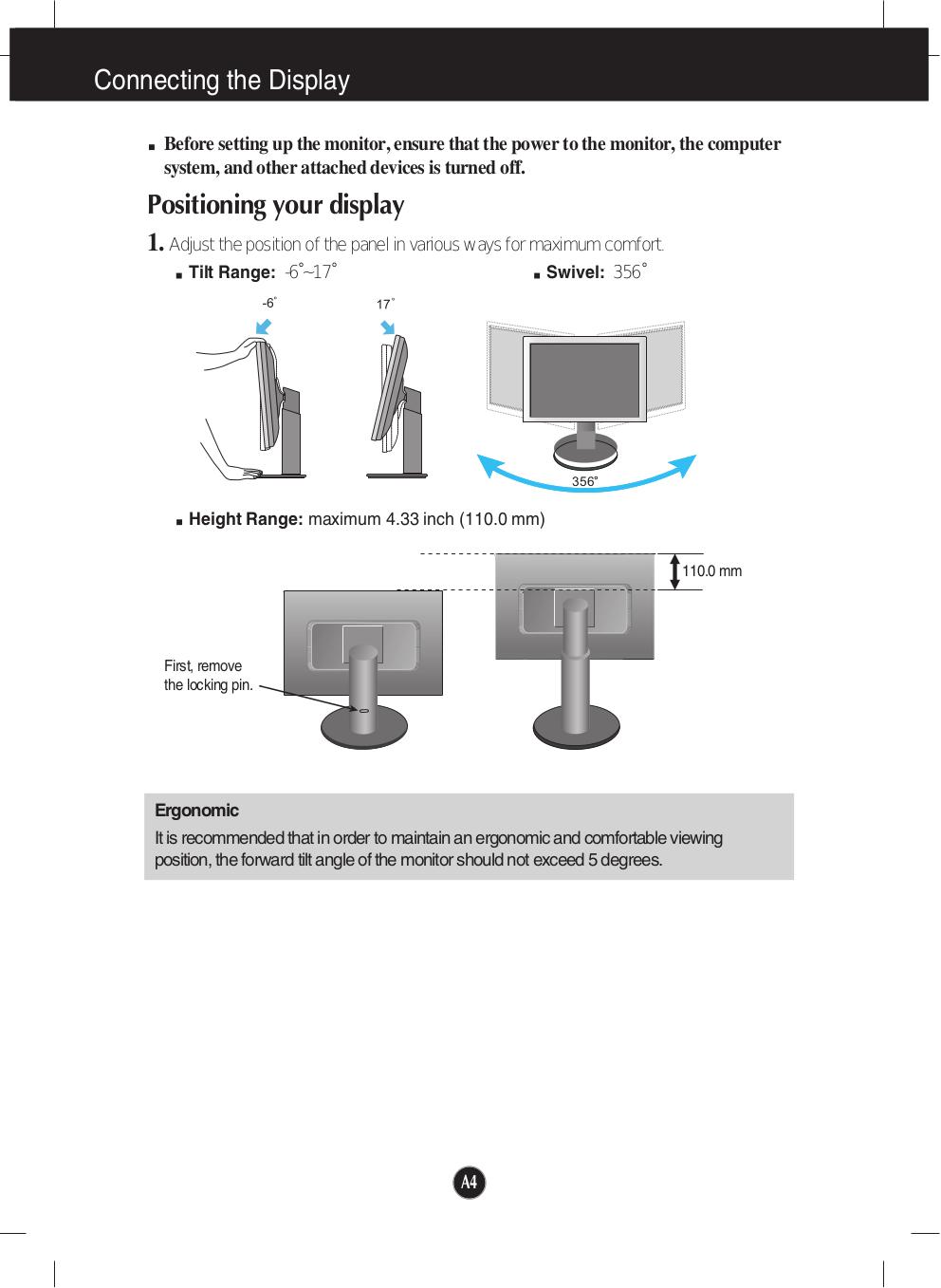 ... LG Monitor W1942P pdf page preview ...