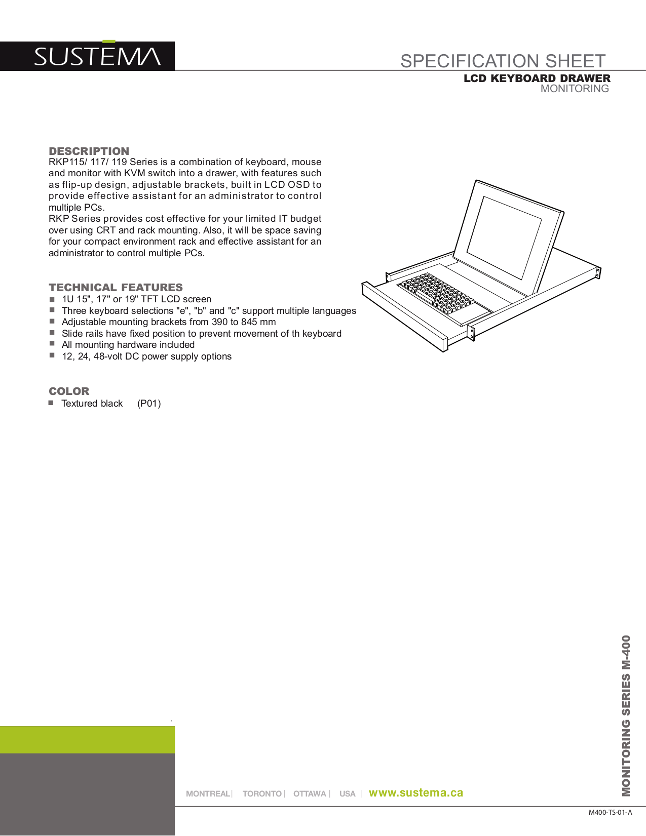 pdf for Rackmount Other S119 Keyboard Drawers manual