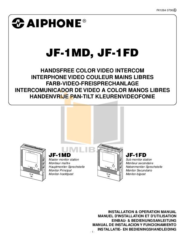 pdf for Aiphone Other KA-DA Intercoms manual