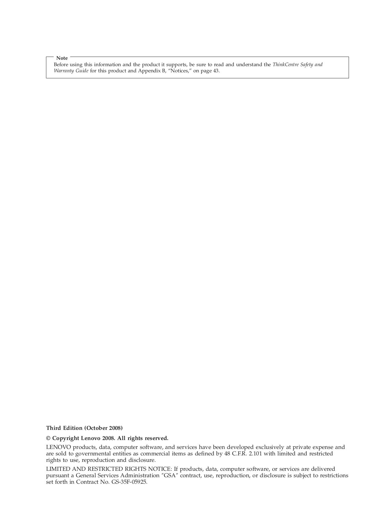 Lenovo Desktop ThinkCentre A57 9789 pdf page preview