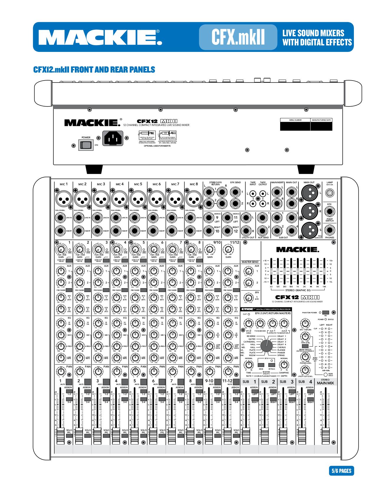 Pdf manual for mackie other cfx mkii series cfx 16 line mixer.