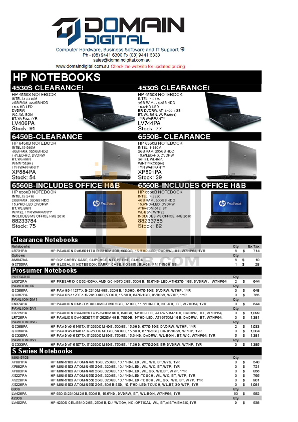 pdf for HP Laptop Pavilion DV6-2164 manual