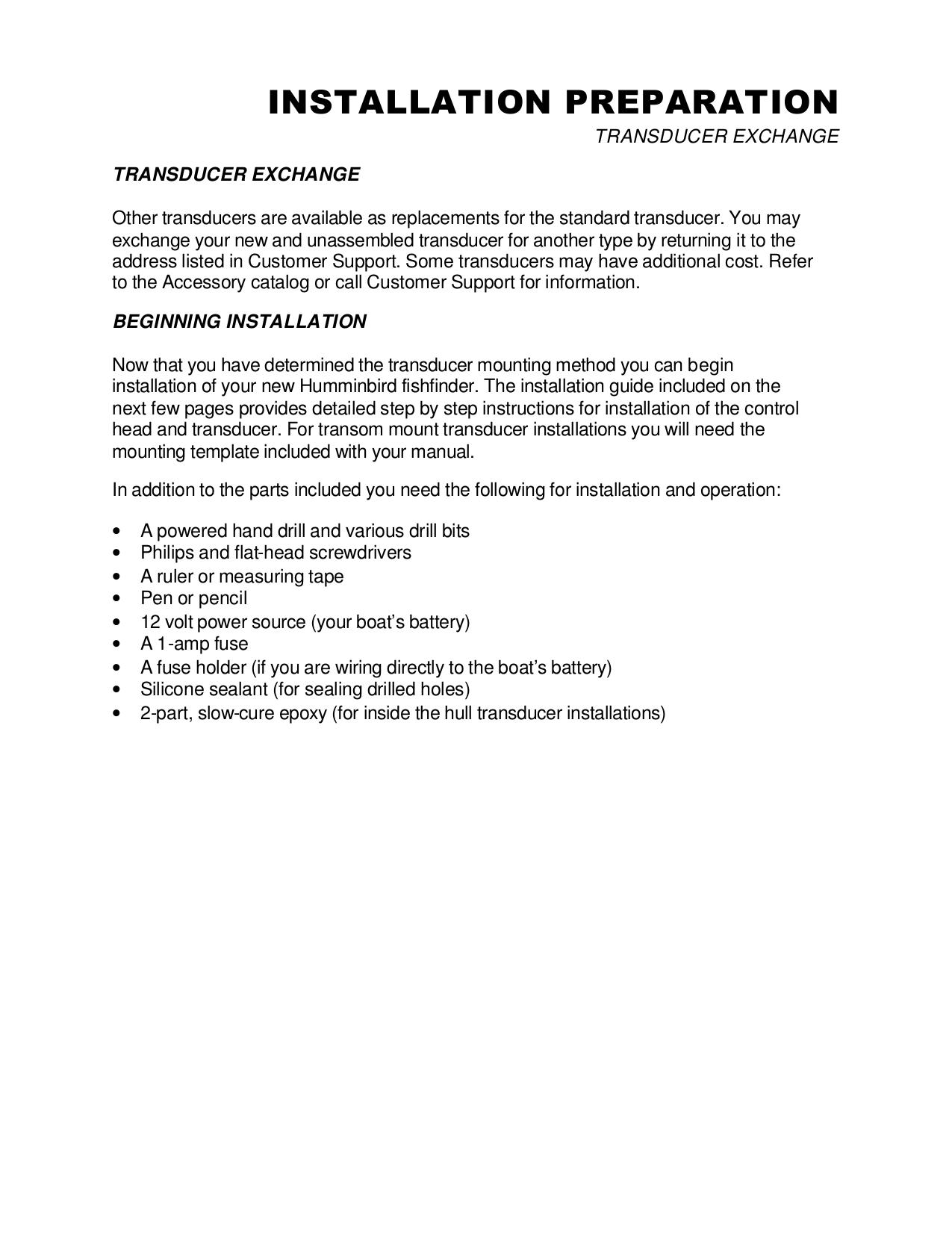 Humminbird GPS 365i pdf page preview