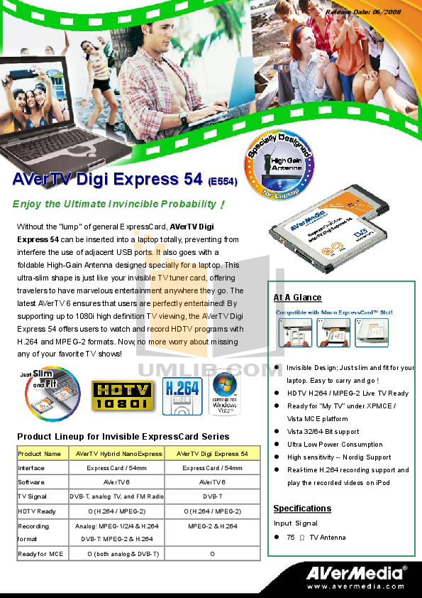 pdf for Avermedia Other AVerTV Hybrid Express Slim TV Tuner Cards manual