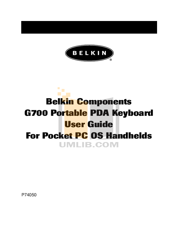 pdf for Belkin Keyboard F8P3502 manual