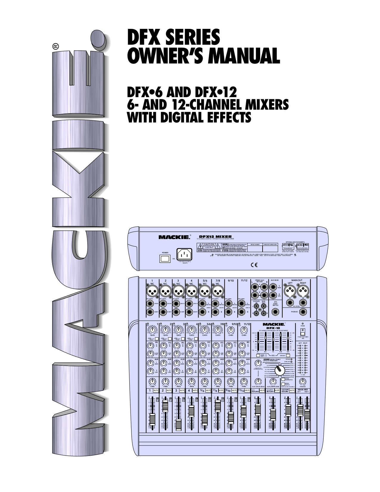 download free pdf for mackie dfx series dfx 12 digital mixer other manual. Black Bedroom Furniture Sets. Home Design Ideas