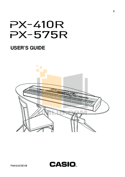 Casio privia px 100 user manual.