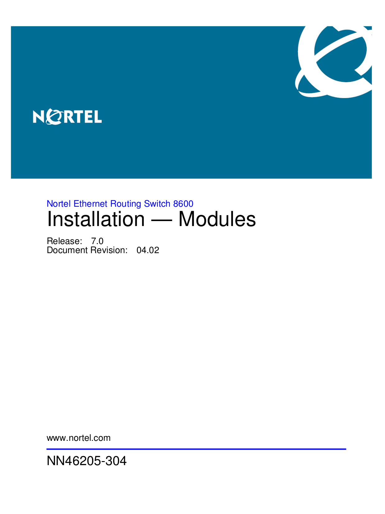 pdf for Nortel Switch 8692SF manual