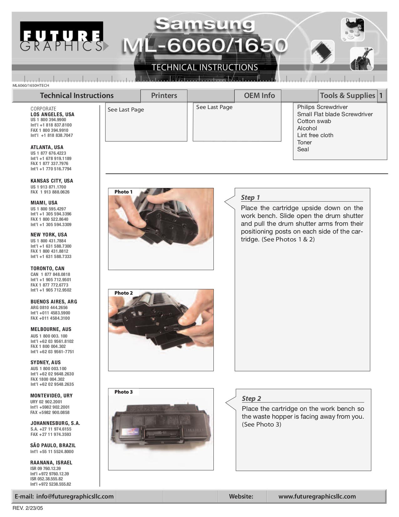 pdf for Samsung Printer ML-6060N manual