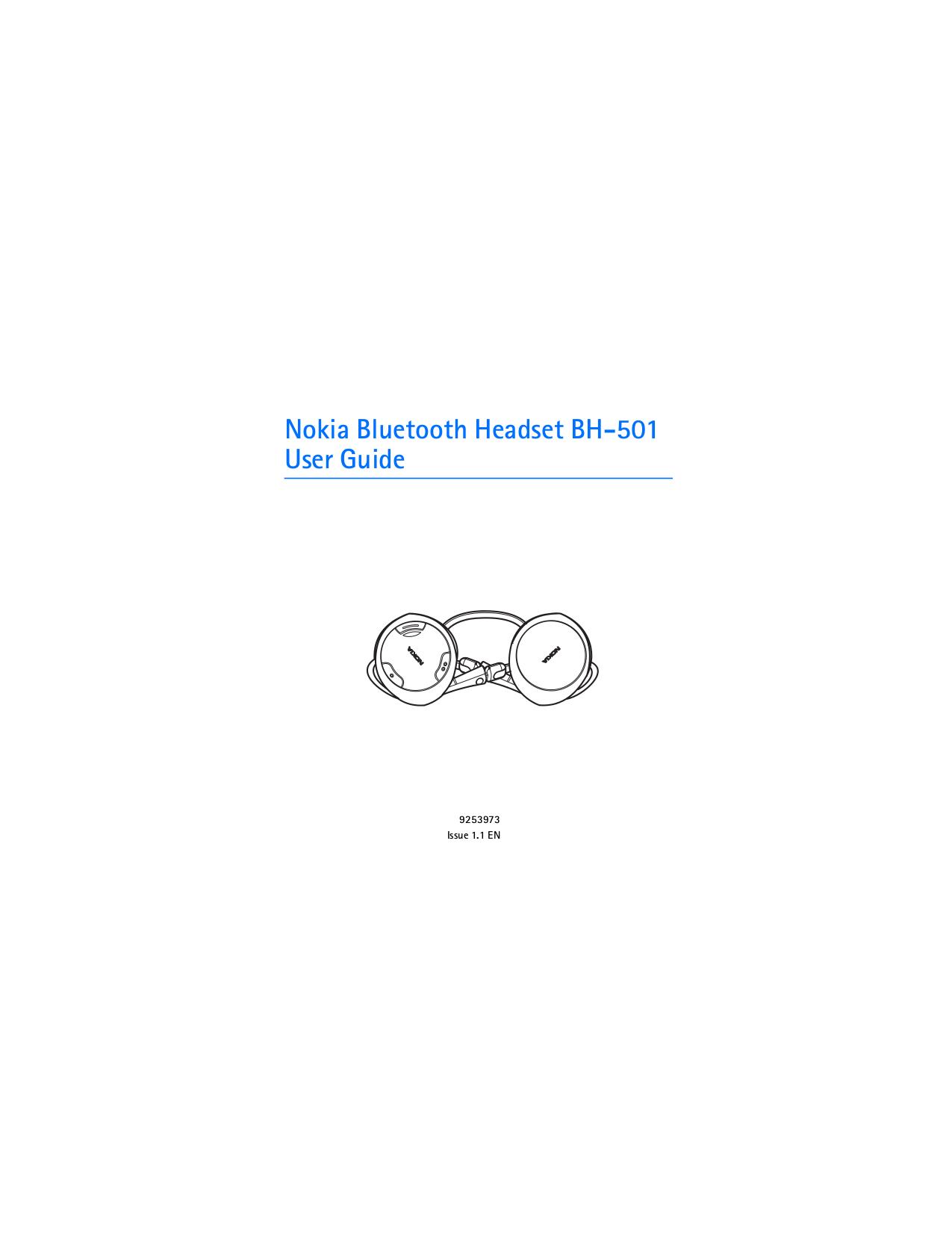 pdf for Nokia Headset BH-501 manual