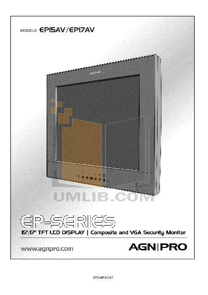 pdf for Agnpro Monitor EP-17AV manual