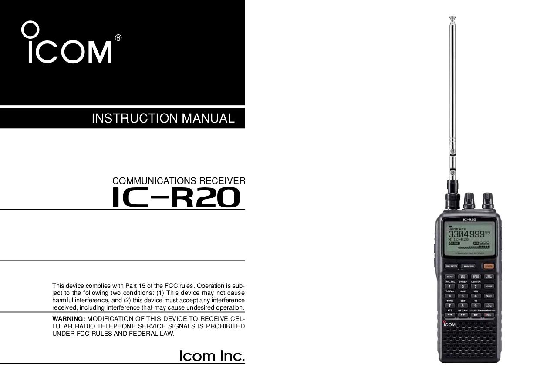 download free pdf for icom ic r20 communication receiver other manual rh umlib com R100 Film Mazda R100