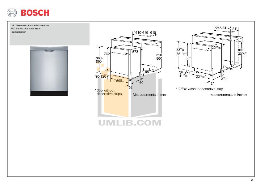 Download Bosch Dishwasher She43r55uc Manual Programynex