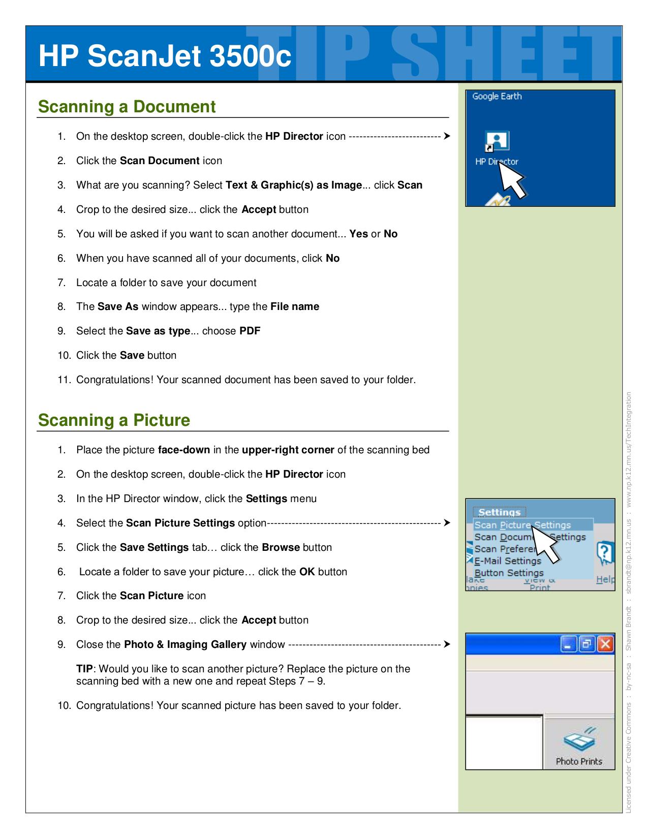 Download free pdf for HP Scanjet 3500c Scanner manual