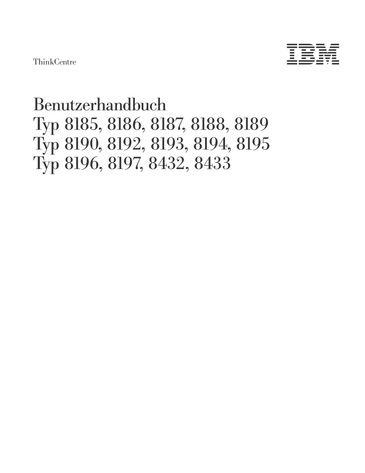 pdf for Lenovo Desktop ThinkCentre M50 8185 manual
