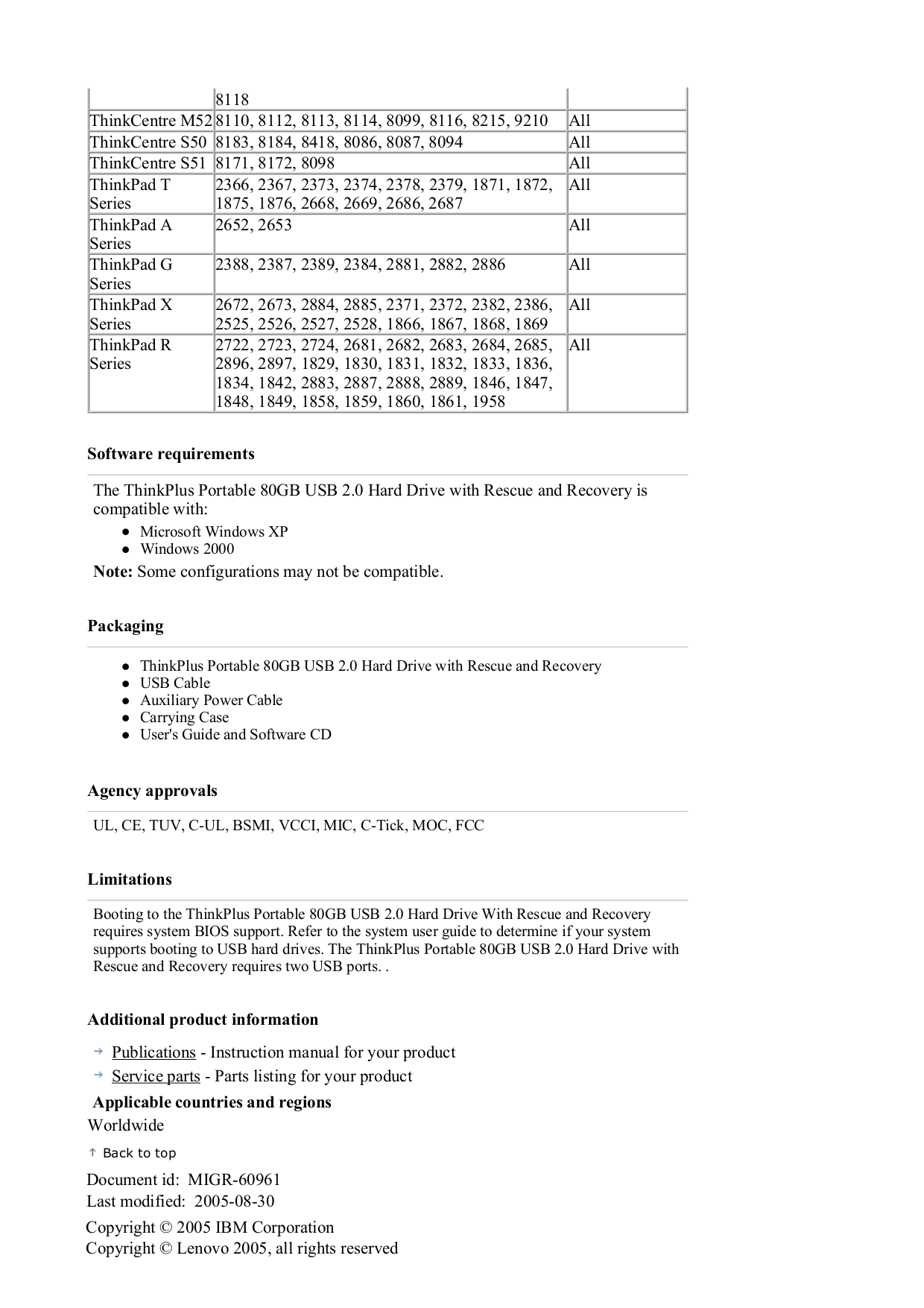 Lenovo Desktop ThinkCentre M50 8185 pdf page preview