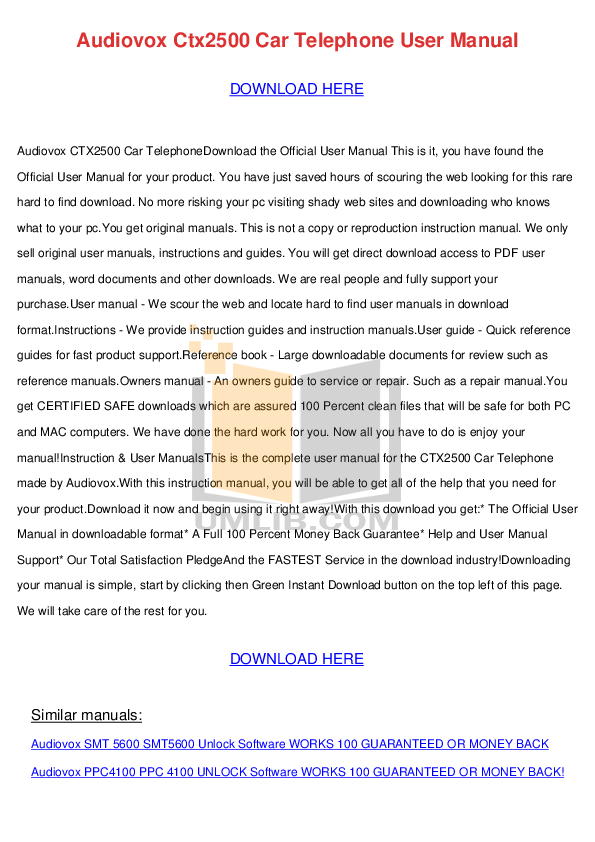 pdf for Audiovox TV FPE2705 manual