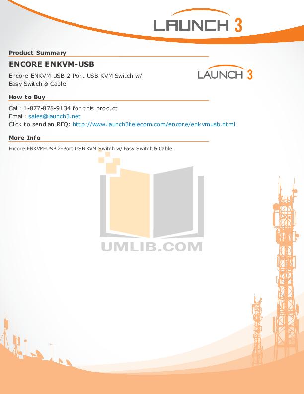 pdf for Encore Switch ENKVM-USB manual