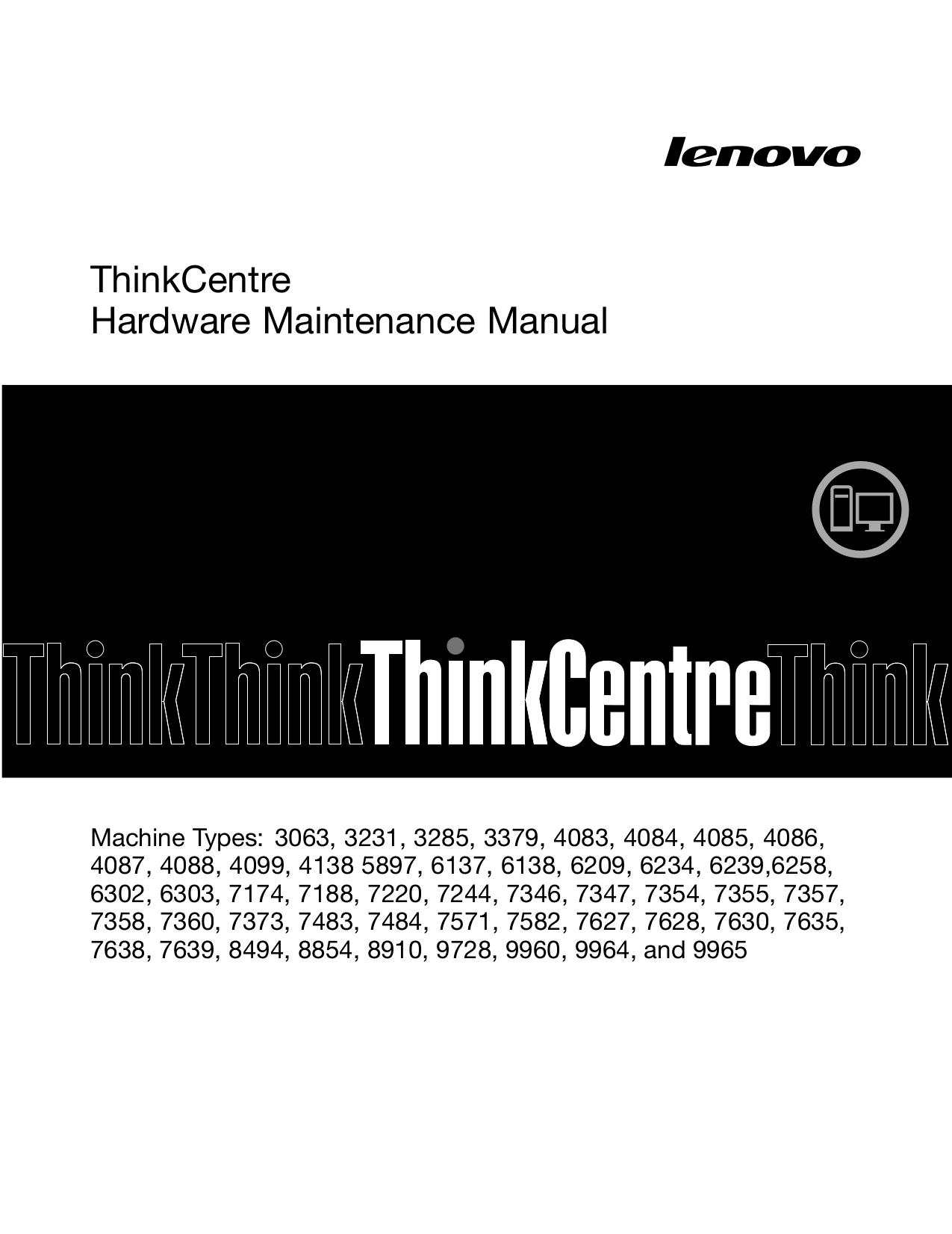 pdf for Lenovo Desktop ThinkCentre M58 7354 manual