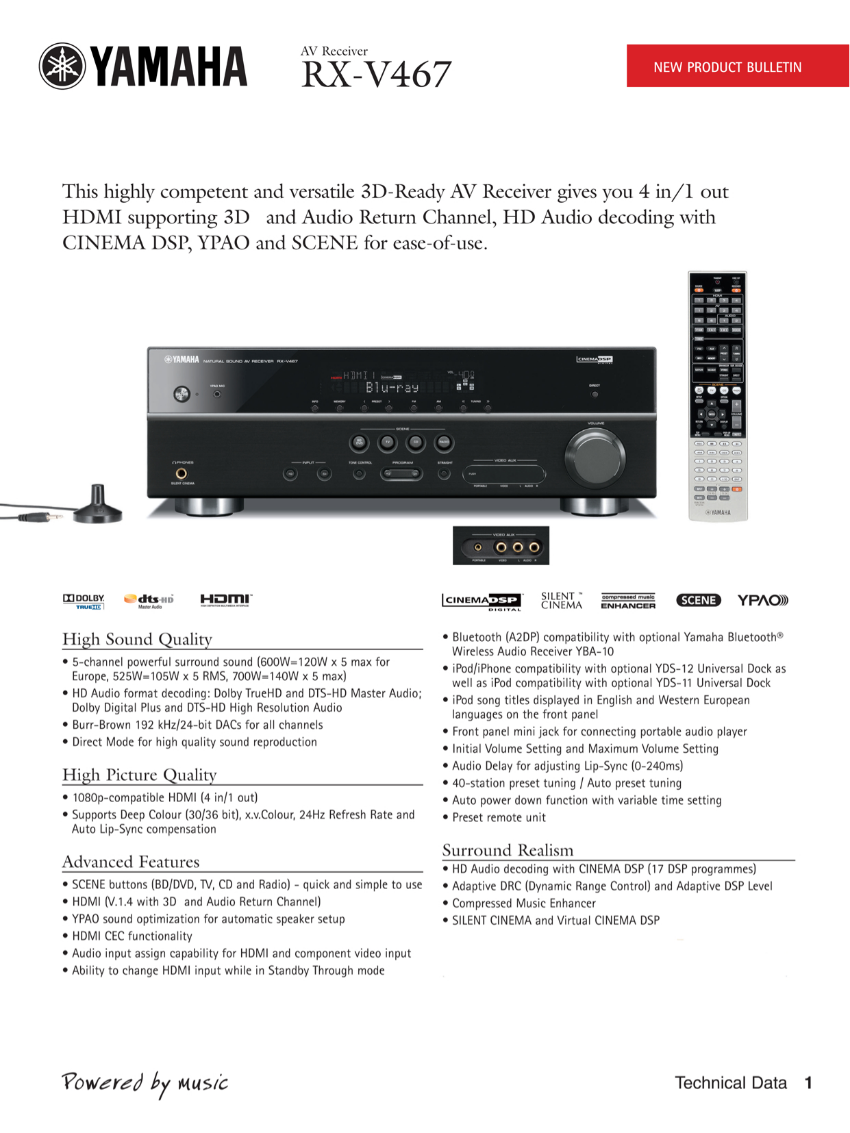 Yamaha Receiver Rx V379 Manual
