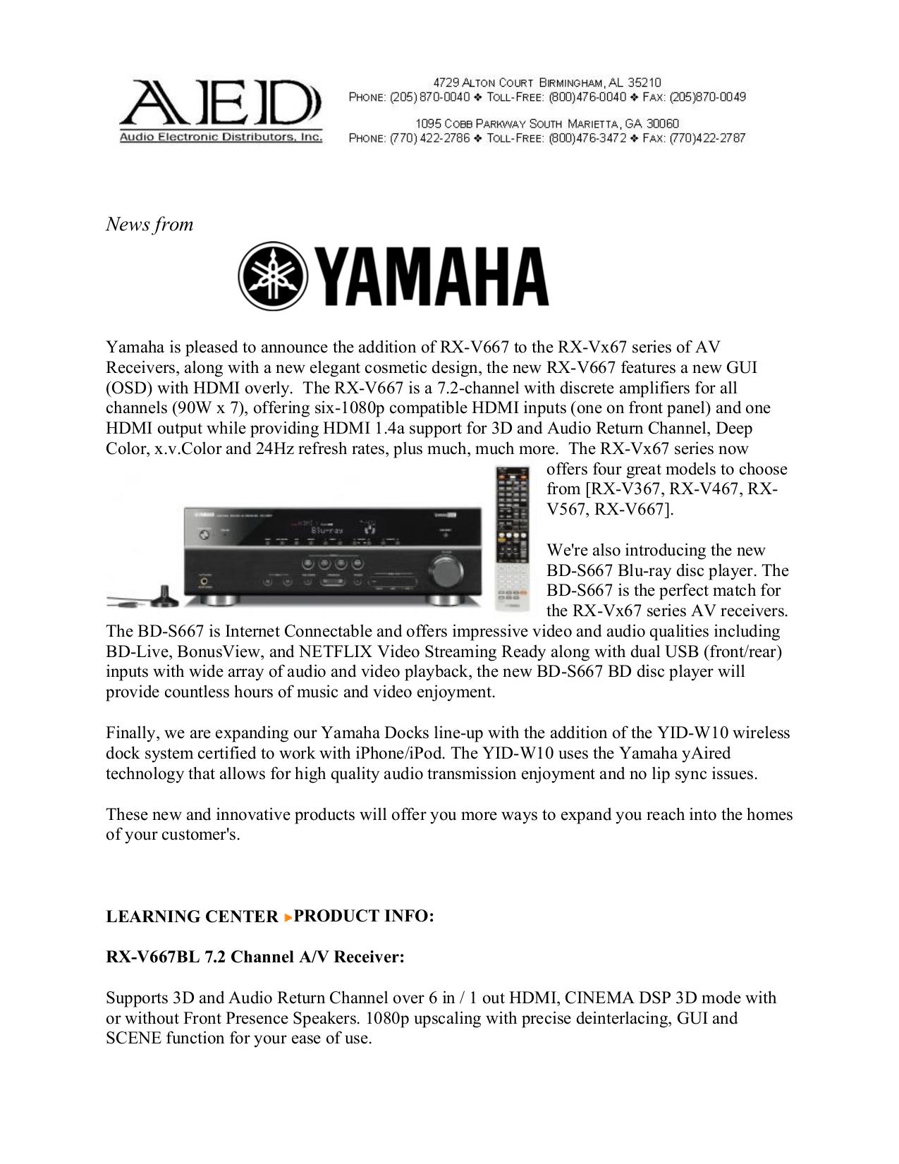 download free pdf for yamaha rx-v467 receiver manual