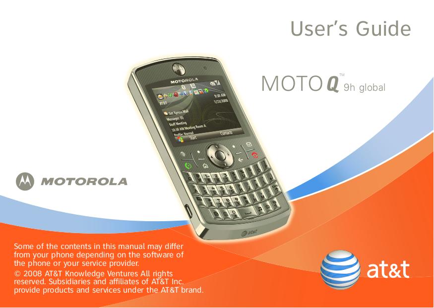 download free pdf for motorola moto q 9h global cell phone manual rh umlib com moto g manual programming moto g manual user guide