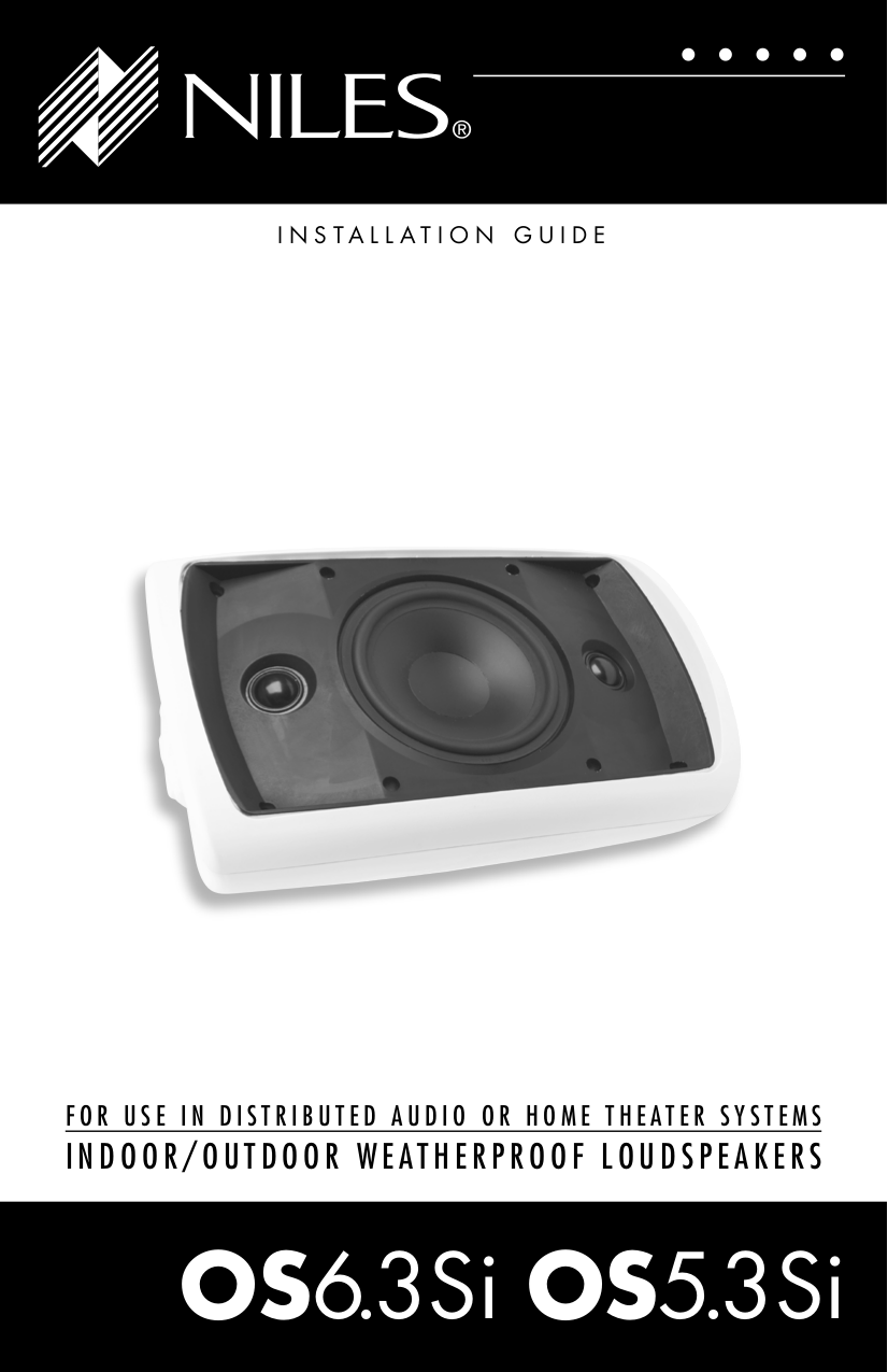 pdf for Niles Speaker OS6.3Si manual