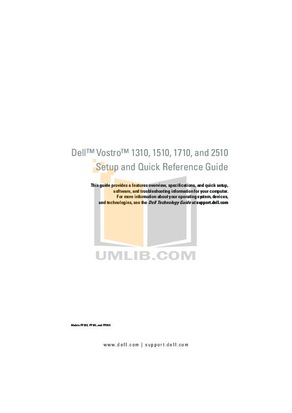 download free pdf for dell vostro 2510 laptop manual rh umlib com Dell Inspiron 1525 Manual dell vostro 1510 manual