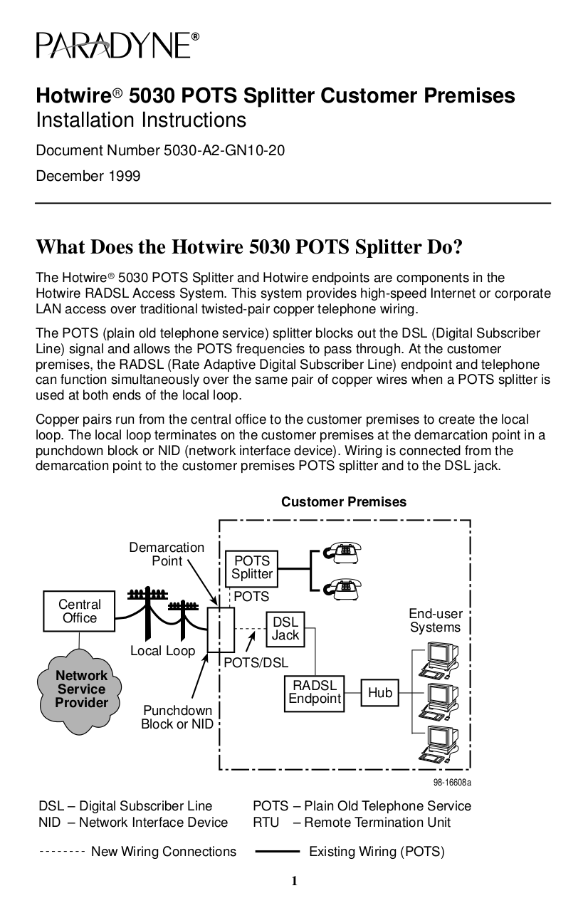 pdf for Zhone Router 5216 manual