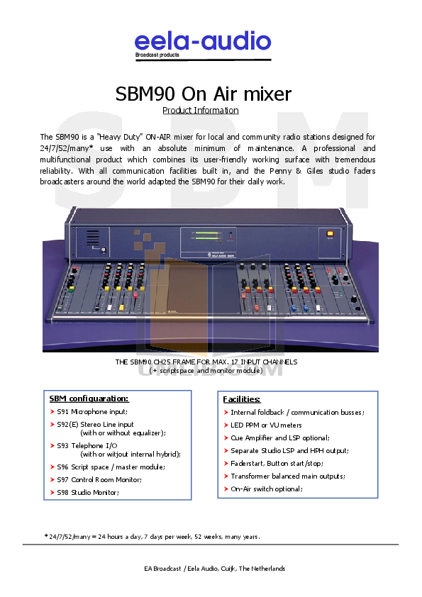 pdf for Anchor Headset MIC-90 manual
