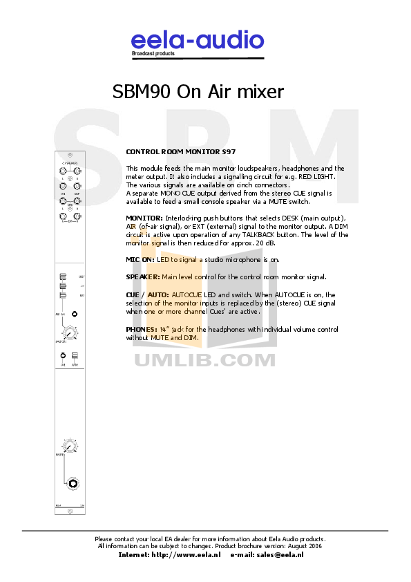 Anchor Headset MIC-90 pdf page preview