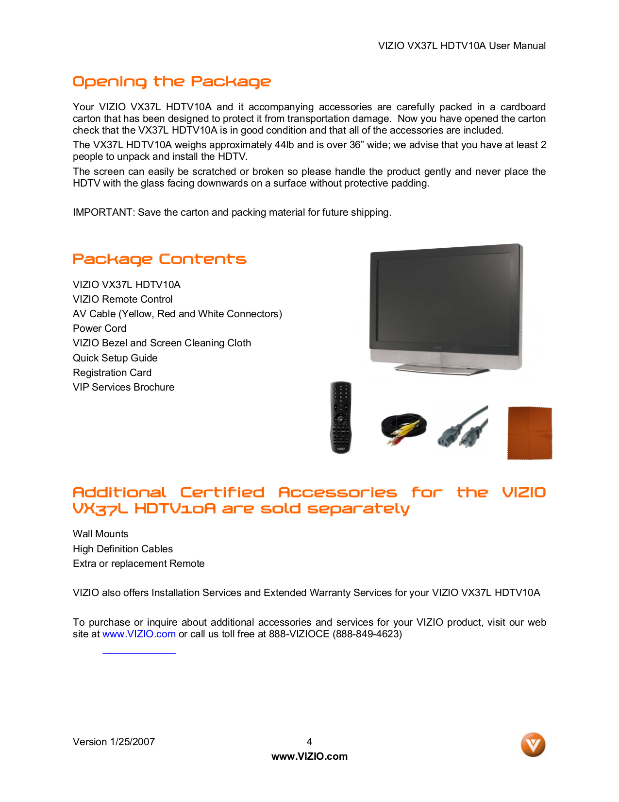 pdf manual for vizio tv vx37l rh umlib com Vizio VX37L Stand Settings for Vizio LCD TV
